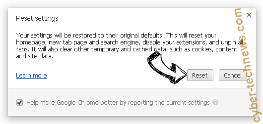 Ukcontentdelivery.info Chrome reset