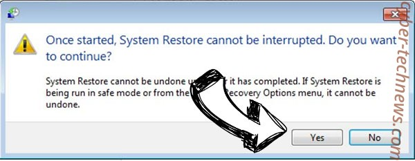 LOL ransomware removal - restore message