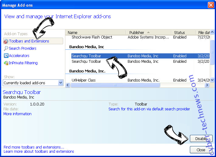 Spyder-finder.com IE toolbars and extensions