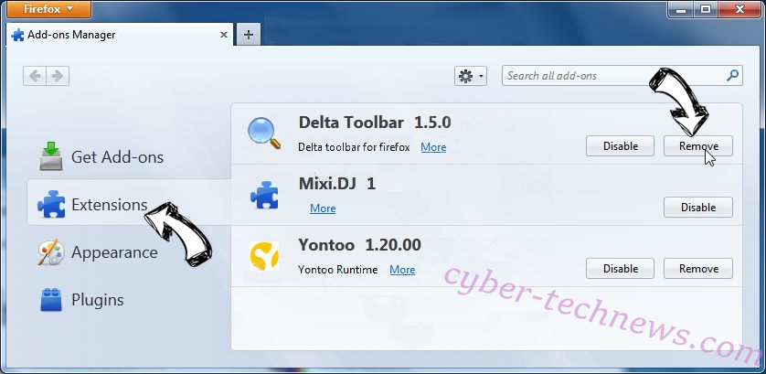 Nuclearlytu.info Firefox extensions