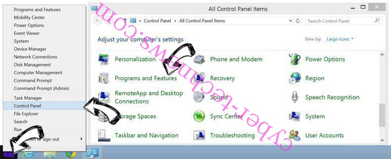 Delete Goe-home.com from Windows 8