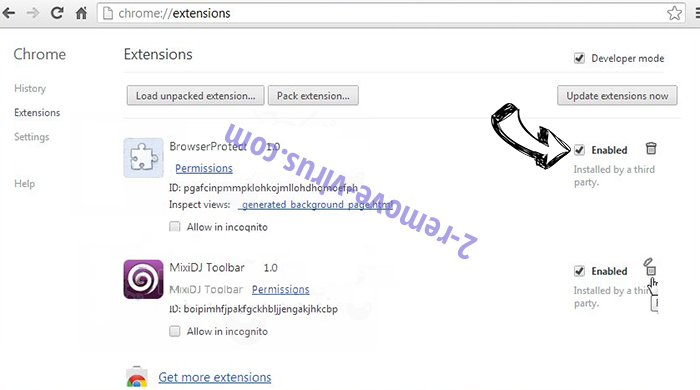 Tadchenmujahe.info Chrome extensions disable