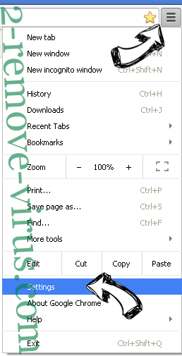 Search.becovi.com Chrome menu
