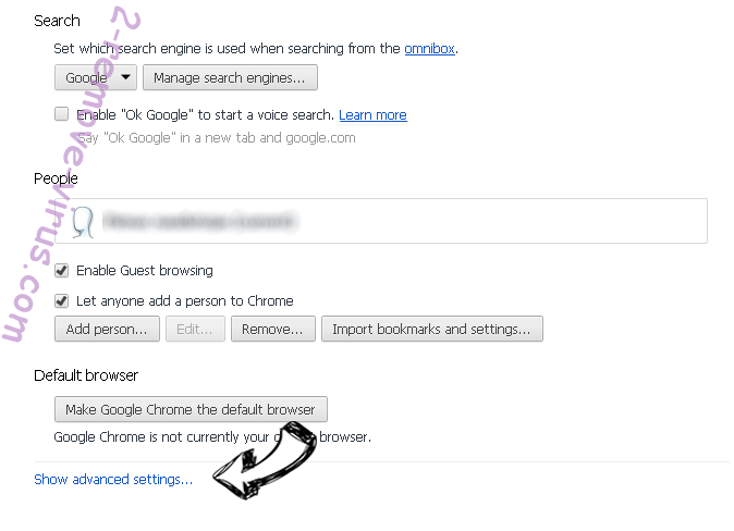 Search.becovi.com Chrome settings more