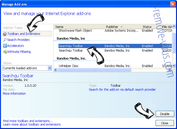 Search.becovi.com IE toolbars and extensions