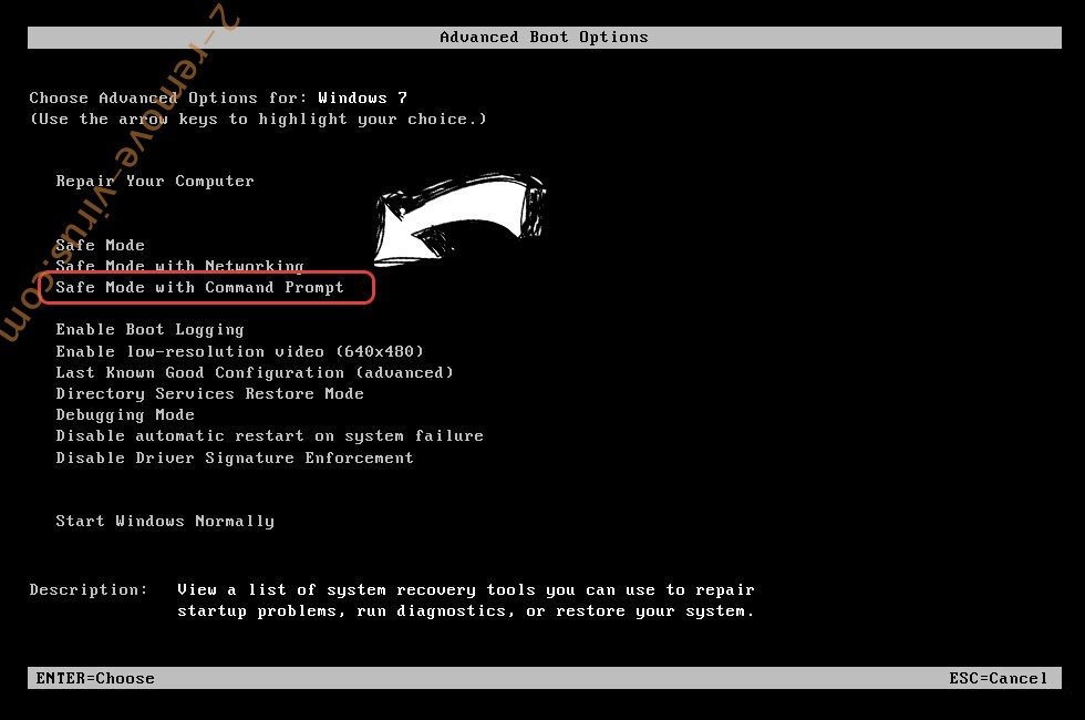 Windows boot menu - command prompt