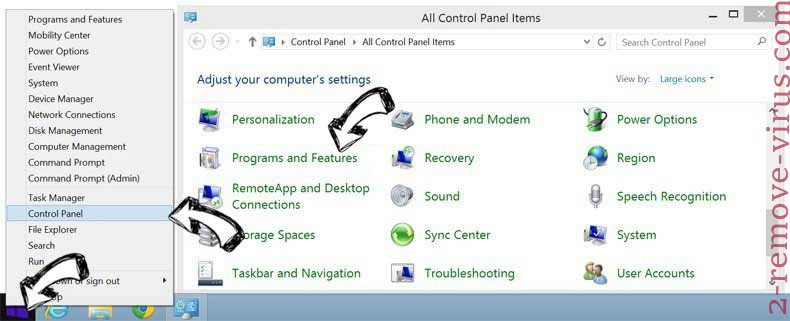 Delete DIY Projects Virus from Windows 8
