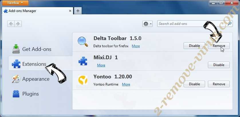 OneSafe PC Cleaner Firefox extensions