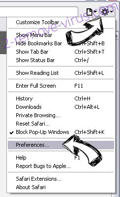 OneSafe PC Cleaner Safari menu