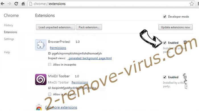 VIRUS ALERT FROM MICROSOFT Scam Chrome extensions disable