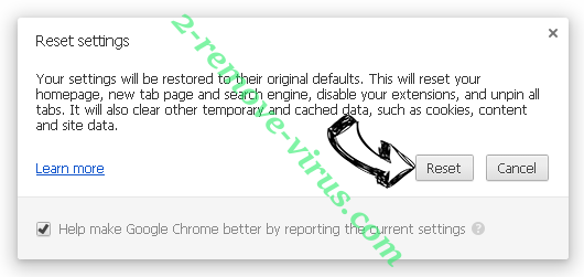 This website has been reported as unsafe Chrome reset