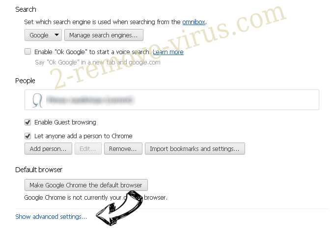 Search.dsearchm3f2.com Chrome settings more