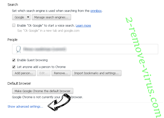 Smilebox.com Chrome settings more