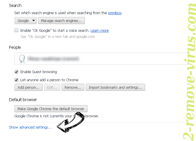 Search.searchfch.com Chrome settings more