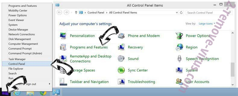 Delete Clean.shield-plus.com from Windows 8