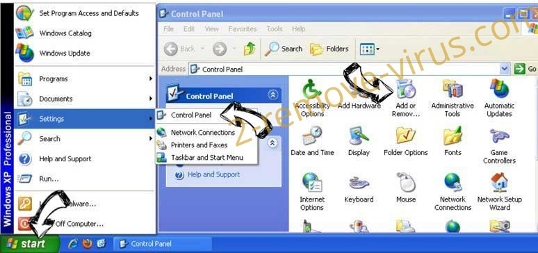 Remove Search.searchfecc.com from Windows XP