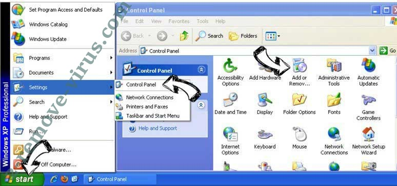 Remove Windows Firewall Warning Alert Scam from Windows XP