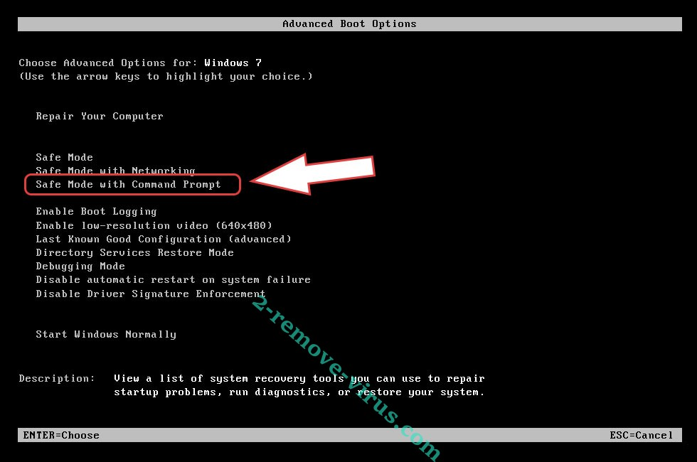 Remove .GDCB file extension virus - boot options