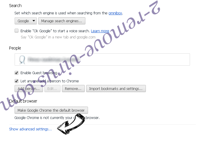 Upnewssubspush.info Chrome settings more