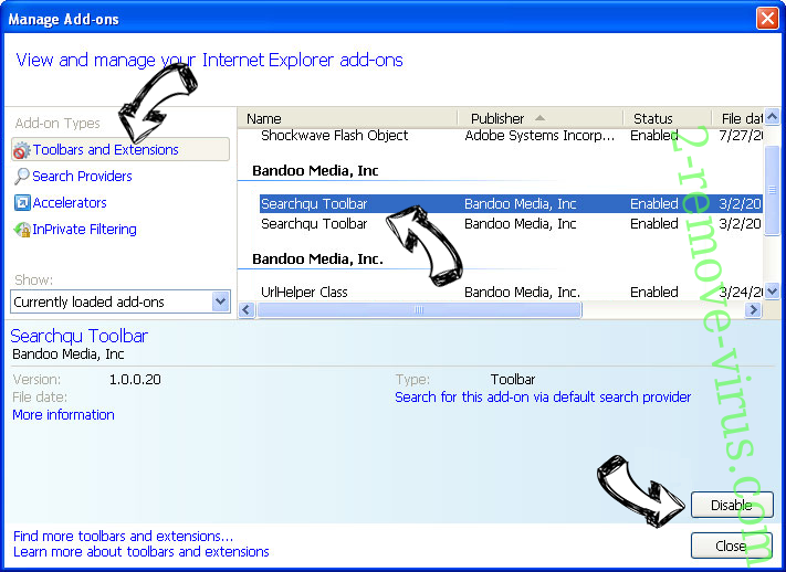 Search.hyourfreeonlineformspop.com IE toolbars and extensions