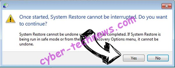 FRS ransomware removal - restore message