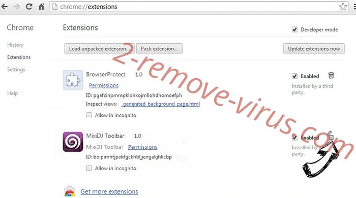Fywaharhedt.info Chrome extensions remove