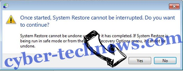 Stinger ransomware removal - restore message