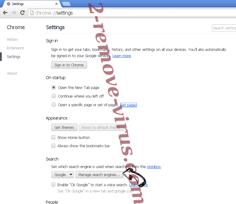 Shh-earch Supporter Chrome extensions disable
