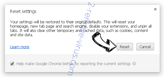 Shh-earch Supporter Chrome reset
