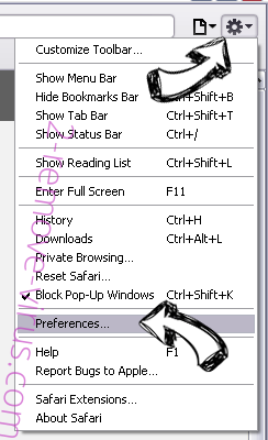 Shh-earch Supporter Safari menu