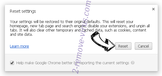 Something Went Wrong With Your Internet Service Scam Chrome reset