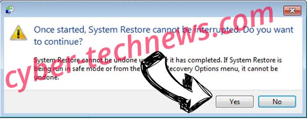 WhiteRose ransomware removal - restore message