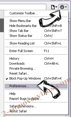 UnzipPro Safari menu