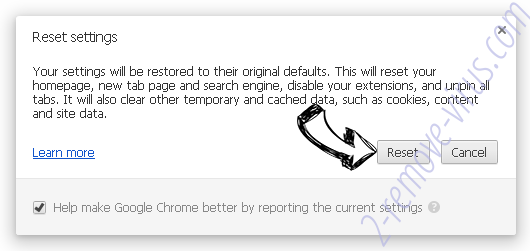 Arpproducticon.exe Chrome reset
