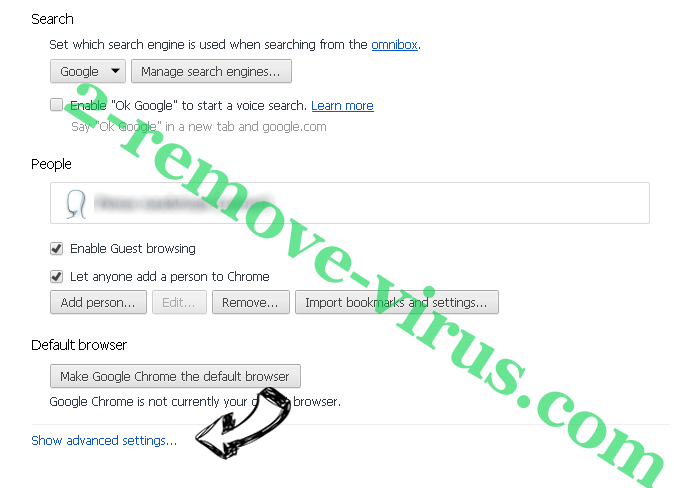 Search.searchws2.com Chrome settings more