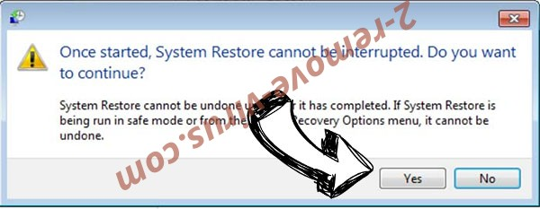 Sorry ransomware removal - restore message