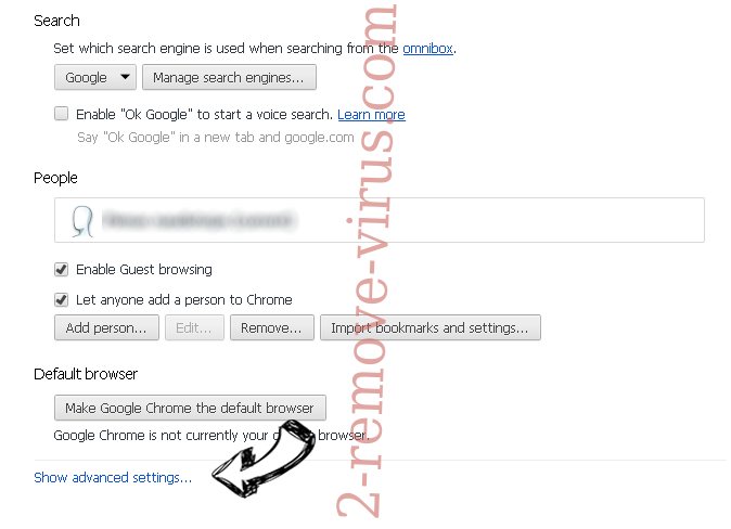 Toexten.com Chrome settings more