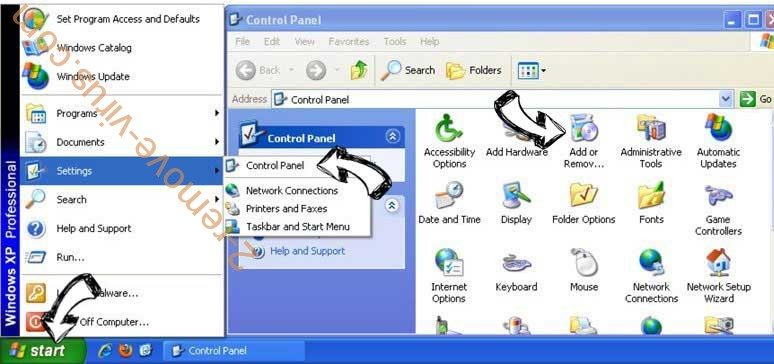 Remove Search.searchmpctpop.com from Windows XP