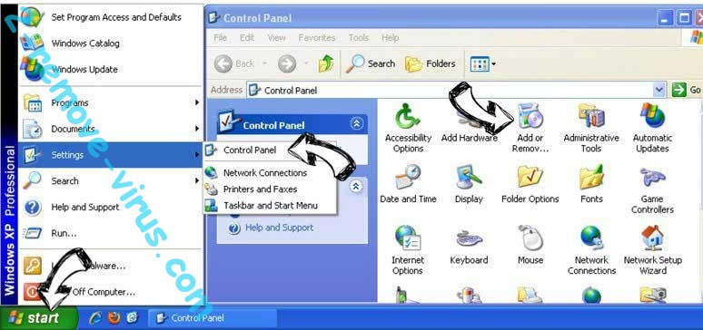 Remove Toexten.com from Windows XP