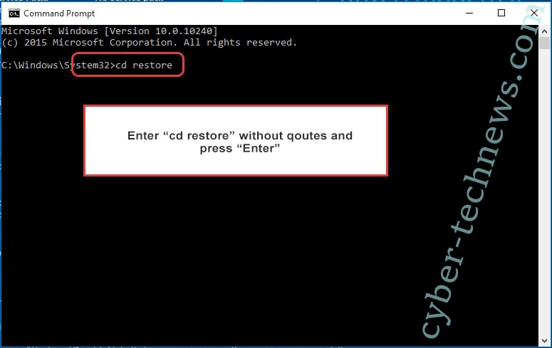 Uninstall CrystalCrypt ransowmare - command prompt restore