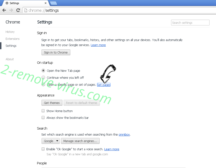 Native Desktop Media Service Virus Chrome settings