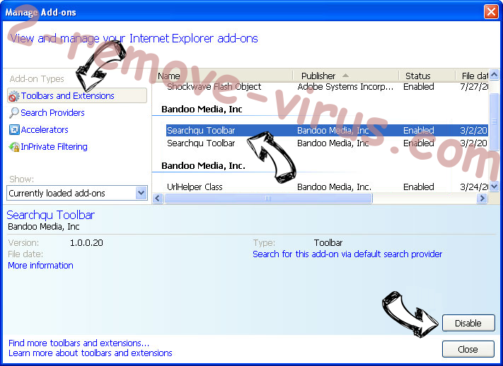 Native Desktop Media Service Virus IE toolbars and extensions