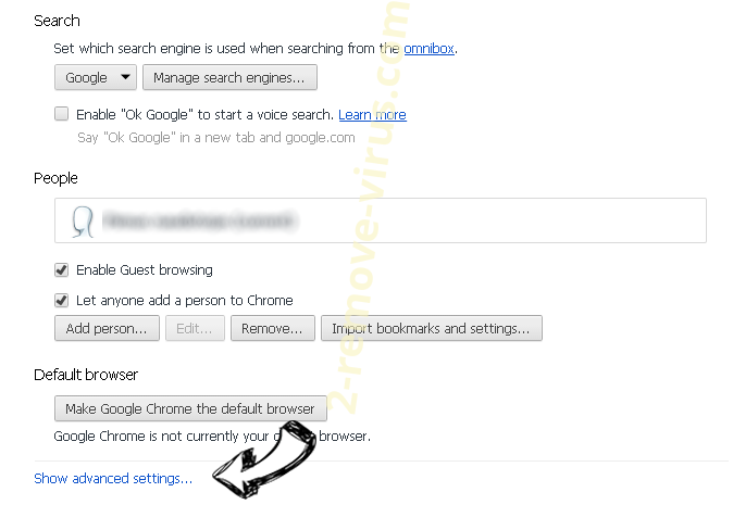 Mediatvtabsearch.com Chrome settings more
