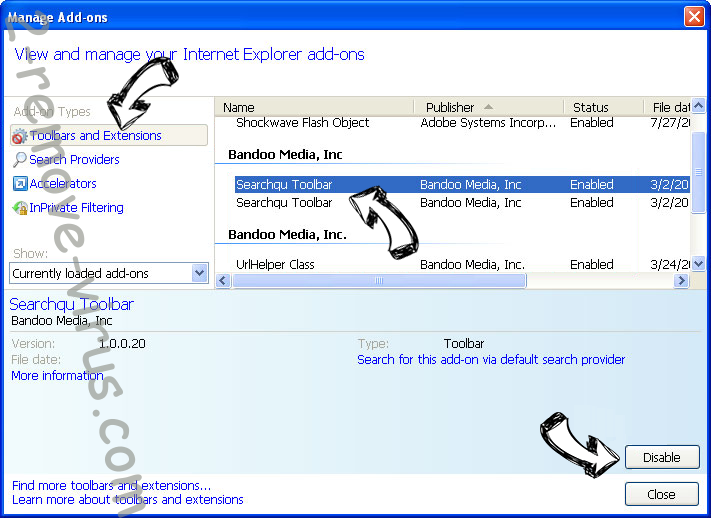 Mybitsearch.com IE toolbars and extensions