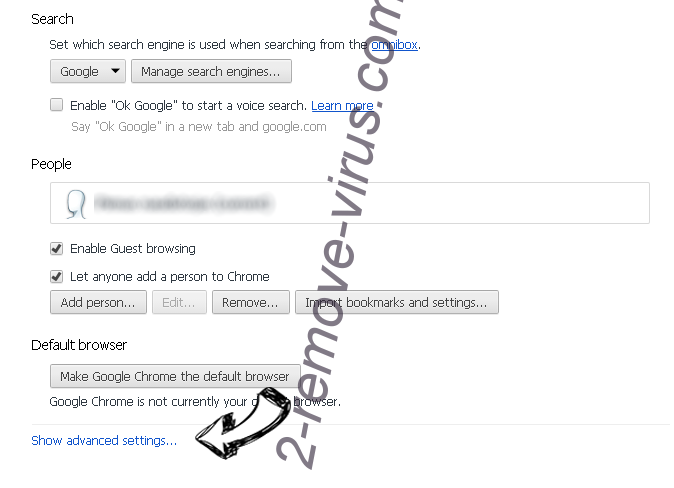Smartmediatabsearch.com Chrome settings more