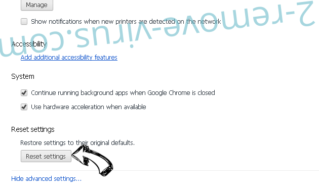 Search.searchmmap.com Chrome advanced menu
