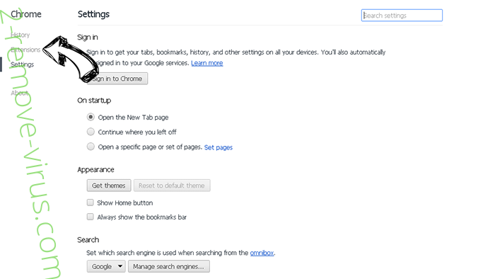Click-now-on.me Chrome settings