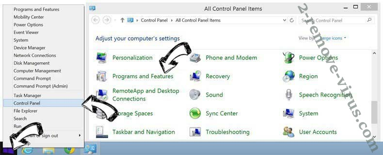 Delete Home.streamontheweb.com from Windows 8
