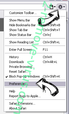 StartsSearch Newtab virus Safari menu