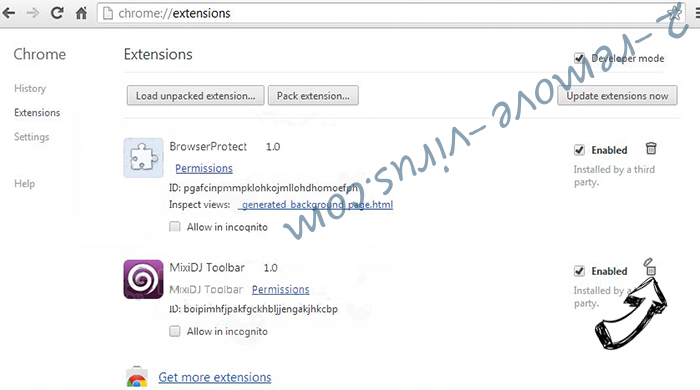 Xilbalar.com virus Chrome extensions remove